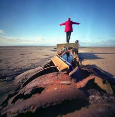 As good as it gets (wheehamx) Tags: pinhole beach barassie irvine ice sun
