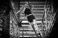 the funny handrail (sonofphotography) Tags: funny stairs portrait beauty photographer street landscape fashion shooting model capture sonofphotography tsphotoart blur blackwhite bw availableiight leicam240 handrail