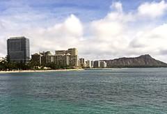 Waikiki Beach (tompa2) Tags: waikiki beach honolulu hawaii strand diamondhead höghus vatten hav stillahavet