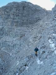 Mt Yamnuska Summit Scramble - Rubble, rubble, toil and trouble... (benlarhome) Tags: yamnuska exshaw alberta canada scramble scrambling hike hiking trail path