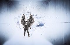 black angel (lafoto.) Tags: angel black blue light travel mort rock lafoto abstrait art