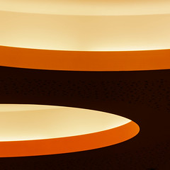 ceiling abstract#1 (morbs06) Tags: hpp hofgartensolingen solingen abstract architecture building ceiling city colour curves detail light lines orange pattern people shadow shoppingmall square stripes texture