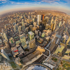 Downtown Toronto (Christian Dionne) Tags: cn tower skypod downtown toronto building buildings difices city canada ontario nikon d800 nikkor 1424mm panorama sunset