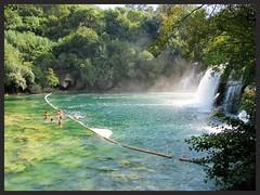 Chûtes de Ptkika (Croatie) (busylvie) Tags: lac bleu vert croatie ptkika