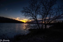 Alone sunset (jocassidy121) Tags: sunset sundown autumn lake landscape lakes water outside outdoor december nikon nature