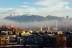 Misty Morning (conradolson) Tags: falsecreek vancouver bc winter northamerica burrardbridge mist city canada kitsilano cityscape westend britishcolumbia fog ca