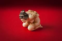 Netsuke (Japanese sculpture). Kinbaku (bobthemagicdragon) Tags: ivory 2016 japanese netsuke kinbaku japan shibari red rope female body figurine sculpture binding
