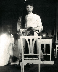 Selfie (~ Lone Wadi Archives ~) Tags: selfie indoors portrait retro mysterious unknown 1910s
