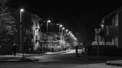 Husbyvegen, Stjrdal (Trond Sollihaug) Tags: husbyvegen stjrdal trndelag norway monochrome night winter streetlight