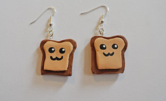 Happy Little Toast Earrings (JosieMM1013) Tags: cute happy handmade crafts toast jewellery polymerclay clay kawaii earrings etsy quirky polymer etsyshop happylittletoast