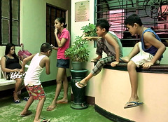 daycare waiting area (mikeeliza) Tags: street school girls boys public children asian photography women shot action candid mothers manila filipino pinay filipina grounds pinoy pinoys pinays mikeeliza uploaded:by=flickrmobile flickriosapp:filter=nofilter