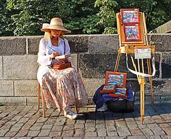 Artista na Ponte Carlos - Praga, Repblica Tcheca (Tiago Caramuru) Tags: europa praga repblicatcheca