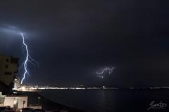Rayos (Sento MM) Tags: playa alicante sanjuan tormenta nocturna rayo largaexposición