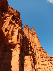 from the bottom of the canyon (kara brugman) Tags: travel utah sandstone butte hike fishertowers