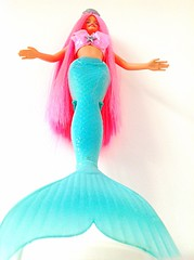 2002 Mermaid Fantasy Barbie (Oscar's World) Tags: pink 2002 green love beautiful up standing hair happy doll long pretty ebay barbie best her clean fantasy after straight mermaid ever tale