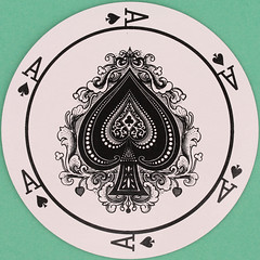 There Must Be Intelligent Life Here They Have Chocolate Ace of Spades (Leo Reynolds) Tags: playing canon eos iso100 deck card squaredcircle 60mm f80 playingcard carddeck 0125sec 40d hpexif 033ev xleol30x sqset093 xxx2013xxx