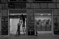 pca xv-9973 (Rafael Mathias) Tags: street bw riodejaneiro graffiti rj centro escada pixo praaxv