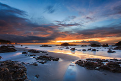 (Yaoo Sheng Ming) Tags: longexposure beach rock sunrise star coast boat taiwan trails wave  yilan