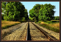 I Wonder Where This Goes ? (the Gallopping Geezer '4' million + views....) Tags: railroad travel train canon rust michigan central tracks rusty transportation straight freight geezer vanashingpoint 2013 tonemap