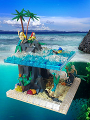 A Siren's Melody (Siercon and Coral) Tags: ocean beach water island lego pirates mermaid siren sirens moc