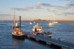 Norfolk boats at Sunset (Holfo) Tags: light sunset boats harbor nikon harbour norfolk wells wellsnextthesea d40