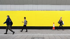 Yellow Wall (D.J. De La Vega) Tags: street leica people yellow wall candid x1 sunderland