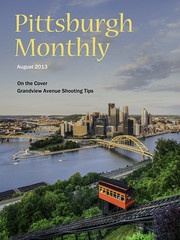 Faux Pittsburgh Monthly Cover (Michael.Lee.Pics.NYC) Tags: sunset skyline golden triangle pittsburgh bridges cover rivers grandview avenue hdr incline dusquense