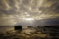 Los Caos de Meca beach (fjprieto71) Tags: sea espaa naturaleza beach nature clouds digital canon mar spain rocks playa andalucia nubes cadiz f22 seashore rocas orilla longexposition 400d pacoprieto bestcapturesaoi fjprieto71