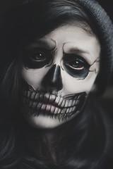 spook (Tasha Mare) Tags: portrait halloween girl face youth skull scary model paint cyan makeup portraiture horror dying ahs tashamarie tashamariephotography teapalm