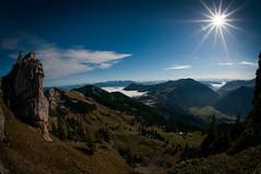 A Sunny Day in The Alps (Explore) (svenpetersen1965) Tags: sun mountains alps sunshine bavaria fisheye wendelstein