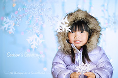 As Unique as a Snowflake (Alex Tumusok) Tags: snowflake christmas winter snow girl season nikon toddler dof child bokeh card greeting