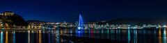 Wellington city at night (Tony Calvert) Tags: fountain night lights wellington wellingtonlandscape