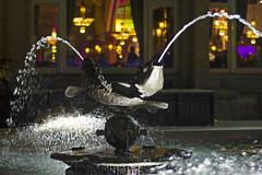 Fountain Americain (Arne Kuilman) Tags: fountain amsterdam night square nikon nacht handheld mf ais 50mmf14 fontein americainhotel