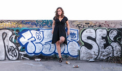 Leanna (Rupauk) Tags: portrait toronto ontario canada girl graffiti pier model 80s denim wards torontoislands