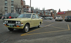 The 70's Parking Lot (Sherlock77 (James)) Tags: calgary classic chevrolet car parkinglot rusty chevelle corona toyota