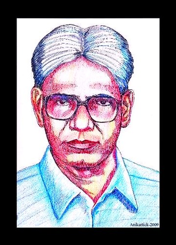 T.SUBBULAPURAM is Our Native Place - My Father N.ALAGARSAMY Retd.PC in my Color Pencil Art - Artist Anikartick ( Vasu engira Karthikeyan )