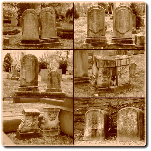 Old Headstones at Laurel Hill