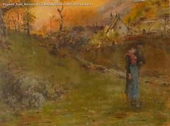 Eugenio Prati Ritorno da Santa Apollonia 1881 olio su tela