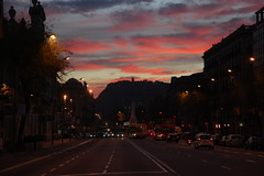Sunset (BooJuice) Tags: barcelona street city travel sunset sky landscape photo amazing spain traveller