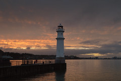 Newhaven Harbour, Edinburgh (Colin Myers Photography) Tags: sunset sea lighthouse water colin boats photography golden coast scotland edinburgh harbour scottish forth hour newhaven cobbles surge tidal hightide firth myers firthofforth newhavenharbour tidalsurge edinburghphotography colinmyersphotography