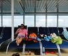 The Cruise Loungers (rafalweb (moved)) Tags: blue boy people orange man men green colors kids children person candid sony streetphotography gimp cybershot cruiseship loungechairs ruleofthirds photoscape dscw570