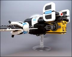C-14 Pelican (Sylon-tw) Tags: sky plane screw war fighter lego pirates aircraft air wing engine cockpit gear pelican cargo fantasy pirate propeller moc skyfi pilotes dieselpunk dieselpulp sylontw