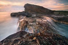 Magasang Rock Formation (dinno19) Tags: travel bw tourism rock sunrise lens nikon asia long exposure angle philippines wave formation lee nikkor ultrawide samar biri hoya sandoval 1835 uwa kenko dinno d700 vision:mountain=054 vision:sky=0554 vision:outdoor=085