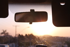 riding into the sunset (Cloudy Morwen) Tags: voyage road trip sunset orange car soleil roadtrip voiture route couch