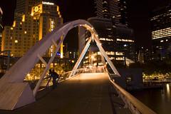 Southbank Footbridge, Melbourne (Kurt Stanley Photography) Tags: bridge buildings river lights design footbridge australia melbourne victoria southbank