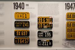 California License Plates 1940-1946 (mark6mauno) Tags: california museum nikon 1940 plate automotive license plates 1942 nikkor 1945 1941 1944 1943 1946 petersen d4 petersenautomotivemuseum nikond4 2470mmf28g