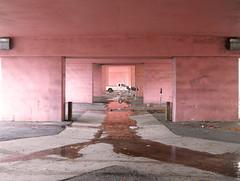 Under Andrews (randeclip) Tags: auto park street new bridge pink water car rain river underpass andrews florida fort under pass lot drain lauderdale ft