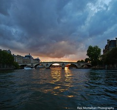vertorama sunset in paris (Rex Montalban Photography) Tags: sunset paris france europe rexmontalbanphotography