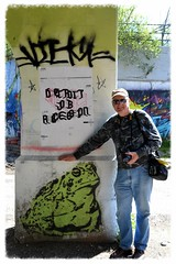 Two Froggys (timmerschester) Tags: art wall graffiti friend photographer michigan detroit sunny frog