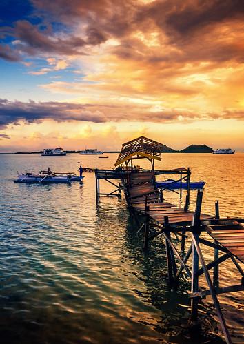 Sunset in Poto Tano, Sumbawa